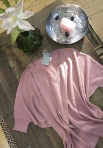 joot - Sommer - Pullover - Absolut Cashmere - Lurex - Rose